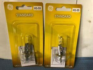 2-Pack GE H1 Halogen 55W 12V Low-Beam High-Beam Headlight Fog Light Bulbs