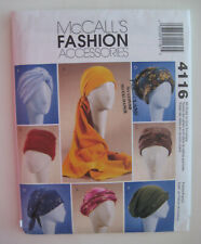 McCall's 4116 Misses Turbans Headwraps Sewing Pattern 1 View Cut Only Size S M L