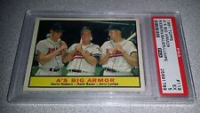 1961 TOPPS #119 A'S BIG ARMOR ATHLETICS BAUER CARD GRADED PSA 5 EXCELLENT