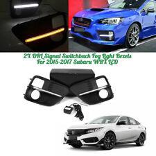 2X DRL Signal Switchback Fog Light Bezels for 2015-2017 Subaru WRX LED