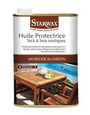 Huile protectrice pour teck - bois exotiques MOBILIER JARDIN 0.5L STARWAX