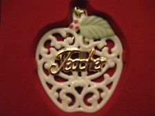 Nib Lenox Filigree Porcelain Ornament For Teacher