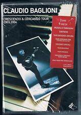 CLAUDIO BAGLIONI CRESCENDO & E CERCANDO - 3 DVD NUOVO!!!