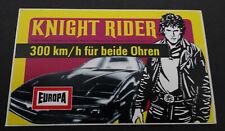 Aufkleber EUROPA Knight Rider David Hasselhoff Hörspiel-Cassetten 1982 Sticker 3
