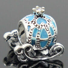 New European Silver CZ Charm Beads Fit sterling 925 Necklace Bracelet Chain k9ux