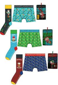 ★ Socken & Boxershort Weichnachts Geschenk Set Weihnachtsbox Giftbox Unterhose