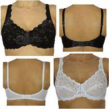 2 Lace Bras Underwired 1 Black 1 White Marlon Ladies Designer Non Padded Pretty