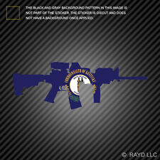 Kentucky State Shape AR15 Sticker Decal AR-15 M16 M-16 KY