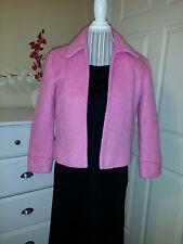 Adolfo Studio Light Pink Mohair Blend Luxurious Soft Open Front Jacket Blazer 4P