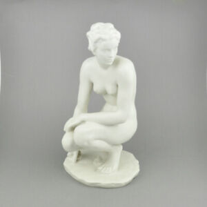 Rosenthal Frauenakt - Hockende - Figur - Frau hockend - Mädchen - Fritz Klimsch