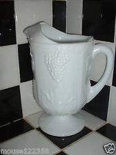Indiana Colony Harvest Glass Milk Footed Pitcher grape