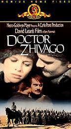 Doctor Zhivago Ormar Sharif 1963 Color VHS, 2-Tape Set