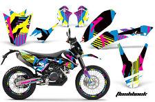 Decal Graphic Kit Wrap For KTM Adventurer 690 Supermoto Enduro 2008-2015 FLSHBK
