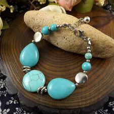NEW Free shipping Tibet silver Pendant jade turquoise bead DIY bracelet S290
