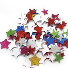60x Decorative Foam Shape Stars Self Adhesive Sticker for Kids Art Crafting BS