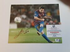 -Lionel Messi- Barcelona Certified Signed/Autograph Soccer/Football 8x10 Photo