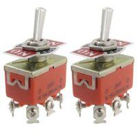2 x AC 250V 15A 3 Positions DPDT Interrupteur bipolaire bidirectionnel a ba P8S6