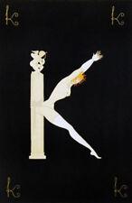 """Erte    (Romain De Tirtoff)     """"Alphabet Letter K""""   Serigraph   MAKE OFFER  BA"""