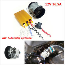 12V 16.5A Car Electric Turbine Power Turbo Charger Boost Bold Lines w/Controller