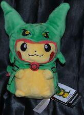 "9"" Rayquaza Cape Pikachu Standard Poke Plush Pokemon Center Dolls Toys EX Hoodie"