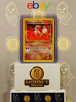 Blaine's Growlithe 62/132 1st Edition NM Gym Heroes Non-Holo Pokemon Card