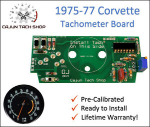 1975-1977 Corvette, C3, Pre-Calibrated Tachometer Circuit Board, NEW!, Tach Fix!