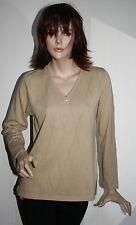 Maglia donna tg M con disegni a trafori sul davanti made in italy misto lana