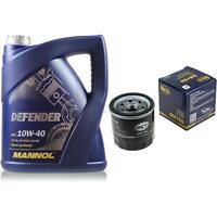 Ölwechsel Set 5 Liter MANNOL Defender 10W-40 + SCT Ölfilter Service 10164136