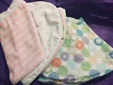 Two Boppy Pillow Covers Pink/white polka dot velour, MultI color Cotton + Bonus