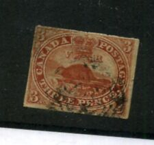 Canada Scott 4 Wove Stamp Cancelled