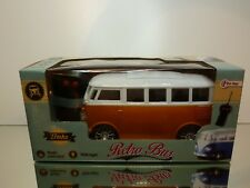 VINTAGE PLASTIC VW VOLKSWAGEN T1 RETRO BUS  - RC 27Mhz L18.0cm - UNUSED IN BOX