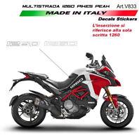Adesivi per fiancate laterali White - Ducati Multistrada 1260 Pikes Peak