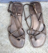 MONTEGO BAY CLUB SANDALS FOR WOMEN SIZE 9 BROWN PRE-OWNED