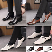 Men's Oxfords Leather Shoes Casual Pointed Toe Business Dress Formal Office Work