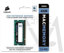 Memoria RAM CORSAIR DDR3 SODIMM 1333MHz 4GB Mac Memory CMSA4GX3M1A1333C9