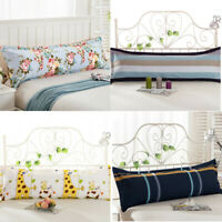 Comfy Home Sofa Print Long Body Double Pillow Cover Protection Cotton Pillowcase