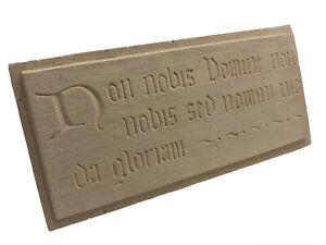 Plaque devise des templiers, véritable pierre reconstituée artisanale