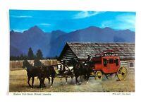 Historic Fort Steele, British Columbia Canada Postcard, Vintage, Horse & Buggy