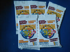 5 Packs Of Decision 92 Wild Card Cards
