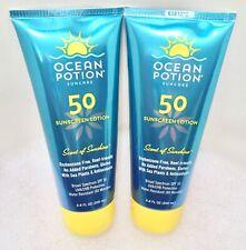2 Ocean Potion SUNSCREEN LOTION SPF 50 Scent of Sunshine 6.8 oz NEW +SPOT STICK