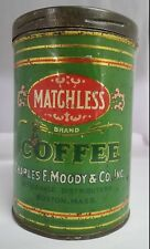 VINTAGE ADVERTISING MATCHLESS COFFEE TIN 889-Y