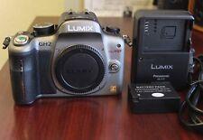 Silver Panasonic LUMIX DMC-GH2 16MP Digital Camera Body- Excellent