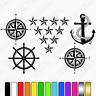 Nautical Caravan Graphics Kit, navigation, auto sleeper sticker decals, anchor