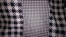 tissu jersey epais  milano pois pied de poule noir & gris 170x65cm