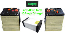 48v 4kwh 94AH Chevy Volt Lithium Battery for Golf Cart w/ 15A Customized Charger