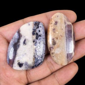 151.45 Cts/2 Pcs Natural Tiffany Jasper Untreated Stunning Cabochon Gemstones
