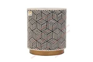 Bone Inlay Stool Home Decor Furniture Side Table lamp table night stand  Decor
