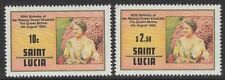 ST.LUCIA SG534/5 1980 QUEEN MOTHER MNH