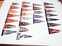 "NHL Vintage Mini 4"" x 9"" Felt Hockey Team Pennants Lot of 27 Phoenix Man Cave"