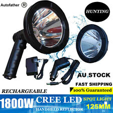 1800w Spotlight Rechargable CREE LED Handheld Work Search Spot Light 12v Plug AU